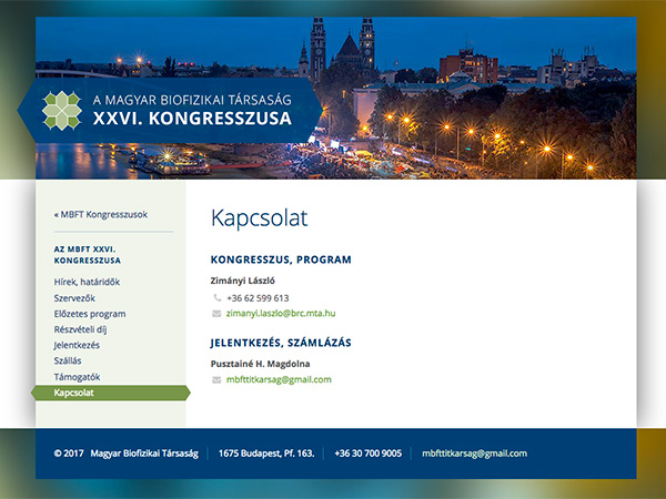 Hungarian Biophysical Society website